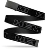 Black Buckle Web Belt - HEMI Bold Outline Black/White Webbing