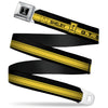 SHELBY Tiffany Box Full Color Black Silver-Fade Seatbelt Belt - SHELBY GT 500/Cobra Box Stripe Black/Yellow Webbing