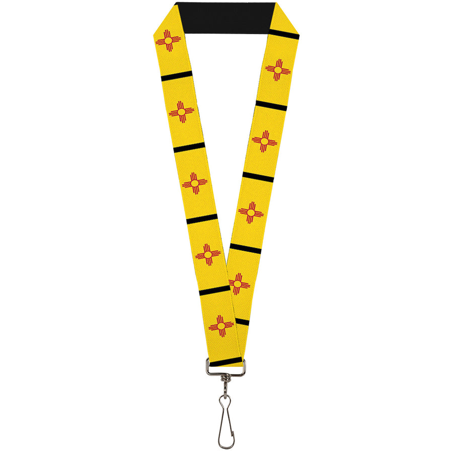 "Lanyard - 1.0"" - New Mexico Flag Black"