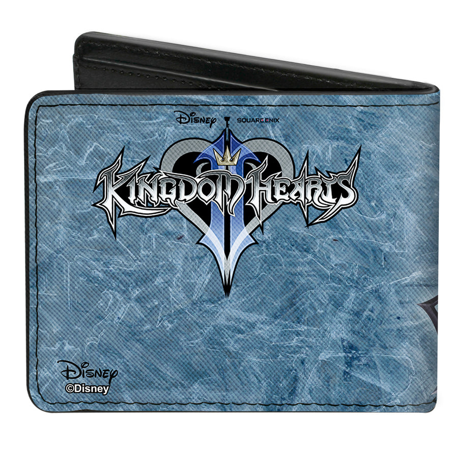 Bi-Fold Wallet - Kingdom Hearts II Final Form Sora Pose Logo Keyblades Blues