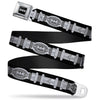 Batman Black Silver Seatbelt Belt - Batman Utility Belt Black/Gray Webbing