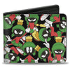 Bi-Fold Wallet - Marvin the Martian Poses Scattered Black