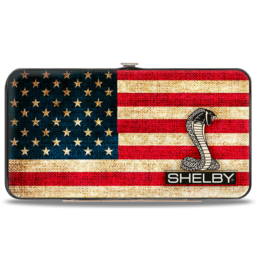Hinged Wallet - SHELBY Tiffany Box Americana Black White