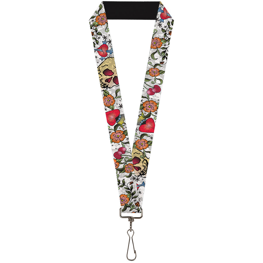 "Lanyard - 1.0"" - Only God Can Judge Me CLOSE-UP White"