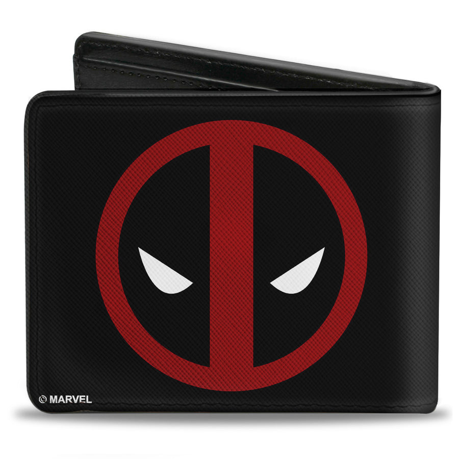 MARVEL DEADPOOL Bi-Fold Wallet - Deadpool Logo Black Red White