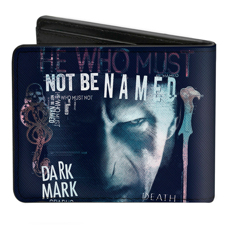 Bi-Fold Wallet - Harry Potter Lord Voldemort Face HE WHO MUST NOT BE NAMED Collage