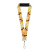 "Lanyard - 1.0"" - Belle Poses Enchanted Rose Story Script Yellow Pinks"