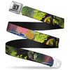 Maleficent Face3 Full Color Green Fade Seatbelt Belt - Sleeping Beauty & Maleficent/Maleficent Dragon Scenes Webbing