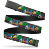 Black Buckle Web Belt - MARVEL COMICS/Marvel Characters Collage Webbing