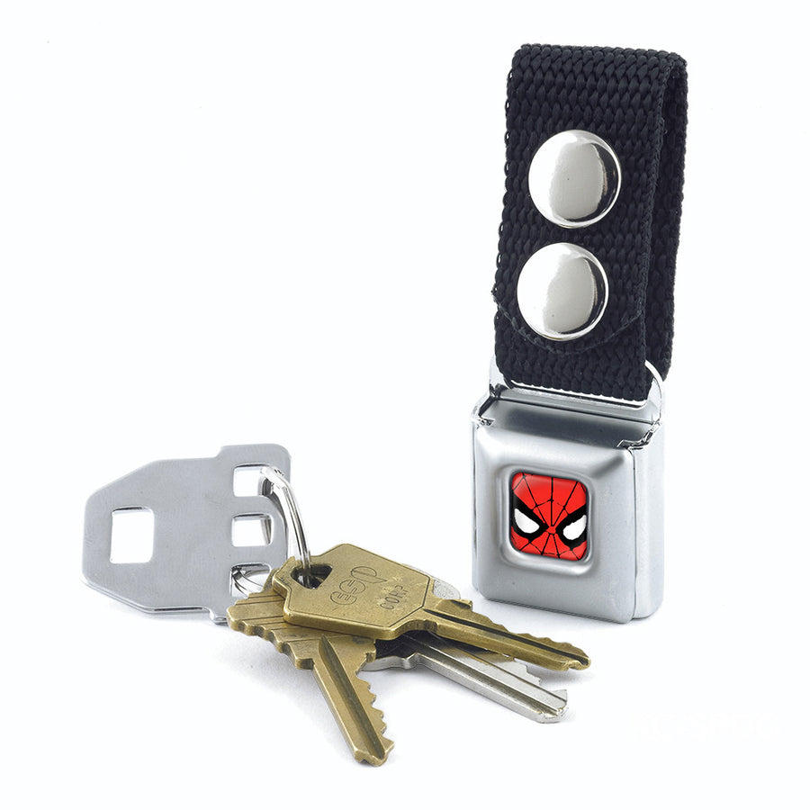MARVEL COMICS Keychain - Spider-Man Face CLOSE-UP Full Color