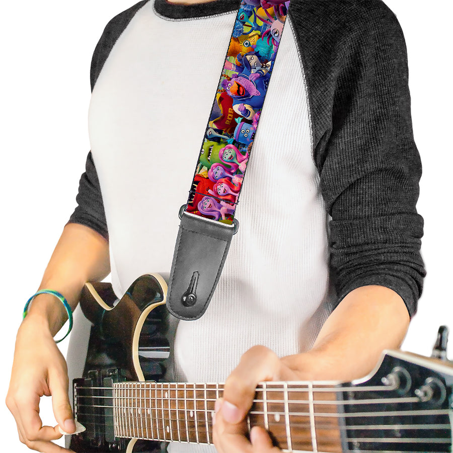 Guitar Strap - Monsters University Monsters Stacked