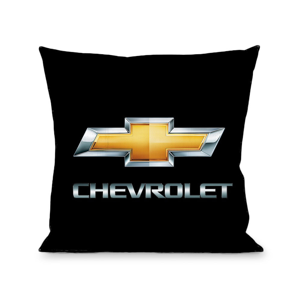 Pillow Throw Chevy Bowtie Chevrolet Black Gold Silver Fade Buckle Down