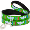 Dog Leash - Toy Story Buzz Lightyear Bounding Space Ranger Logo/Buttons Green/White/Blue/Red