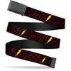 Black Buckle Web Belt - The Flash Logo13 Scattered Black/Red/Yellow Webbing