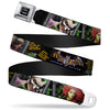 Batman Full Color Black Silver Black Seatbelt Belt - BATMAN ARKHAM ASYLUM Patients Joker/Poison Ivy/Harley Quinn Webbing