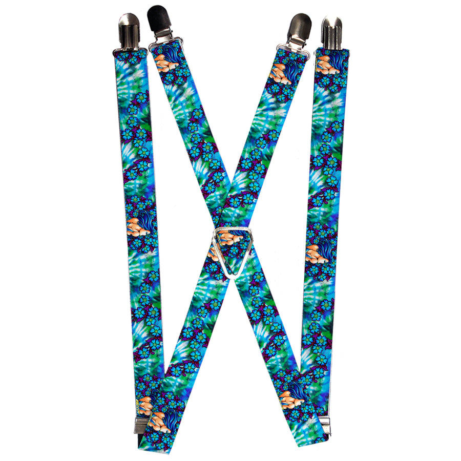 "Suspenders - 1.0"" - Tattoo Johnny-Blue Hair"