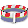Cinch Waist Belt - Toy Story Buzz Lightyear Bounding Striping Red White Green Purple