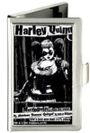 Business Card Holder - SMALL - HARLEY QUINN Pose METROPOLIS WILL NEVER BE THE SAME FCG Black Grays White