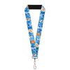 "Lanyard - 1.0"" - Frozen Character Poses Blues"
