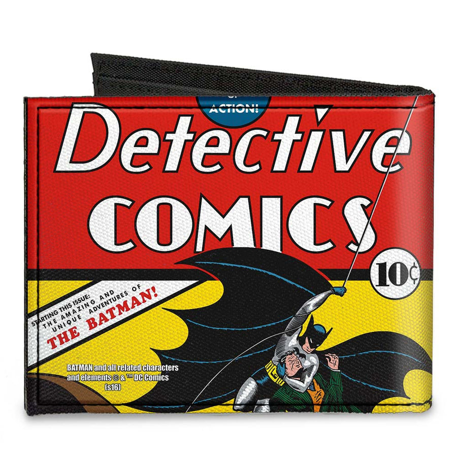 Canvas Bi-Fold Wallet - Classic DETECTIVE COMICS Issue #27 First Batman Action Cover Pose