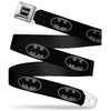 Batman Black Silver Seatbelt Belt - Batman Shield Black/Gray Webbing