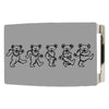 Dancing Bears Rock Star Buckle - Brushed Silver