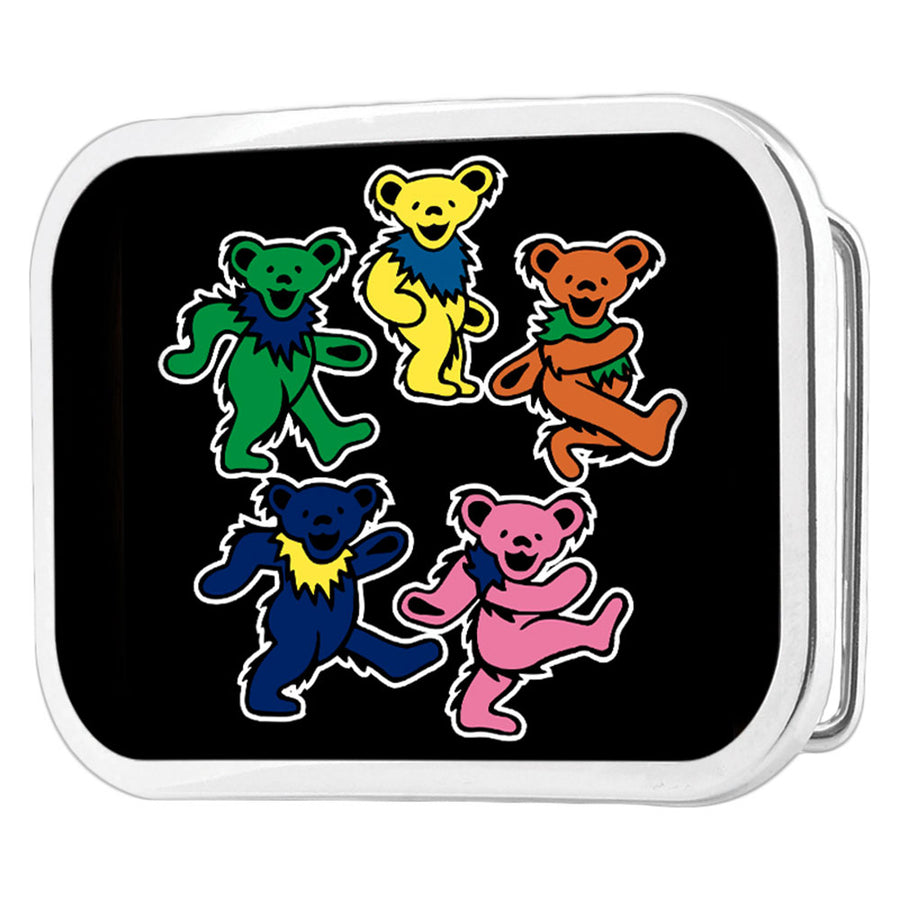 Dancing Bears Circle FCG Black Color - Chrome Rock Star Buckle