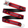 Cars 3 Piston Cup Champion Icon Full Color Red Black White Seatbelt Belt - Cars 3 Lightning McQueen Aerial View/Stripes Red/Black/Blue Webbing