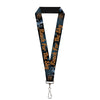 "Lanyard - 1.0"" - Woody REACH FOR THE SKY Denim Blue Print"