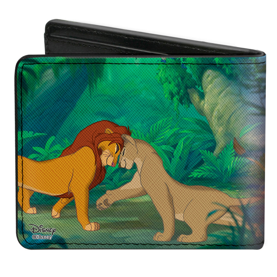 Bi-Fold Wallet - The Lion King Young Simba & Nala + Grown Up Snuggle Pose