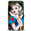 Hinged Wallet - Snow White Pose Sketch Roses Black Greens Reds Golds