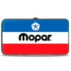 Hinged Wallet - MOPAR Chrysler Logo White Blue Red Black