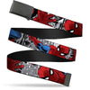 Black Buckle Web Belt - Spider-Man Action ESCAPE IMPOSSIBLE Gray Webbing