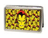MARVEL COMICS Business Card Holder - LARGE - Iron Man Face CLOSE-UP Stacked FCG