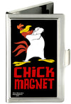 Business Card Holder - SMALL - Foghorn Leghorn CHICK MAGNET Black Red FCG