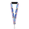 "Lanyard - 1.0"" - Elsa the Snow Queen Poses Castle & Snowy Mountains Blue-Pink Fade"