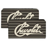 Canvas Snap Wallet - CHEVROLET Heritage Script Stripe Charcoal Tan