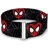 MARVEL COMICS Cinch Waist Belt - Spider-Man Heart Face Web Black Gray