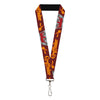 "Lanyard - 1.0"" - Harry Potter GRYFFINDOR Quiditch Ball Crown Burgundy Red Golds Grays"