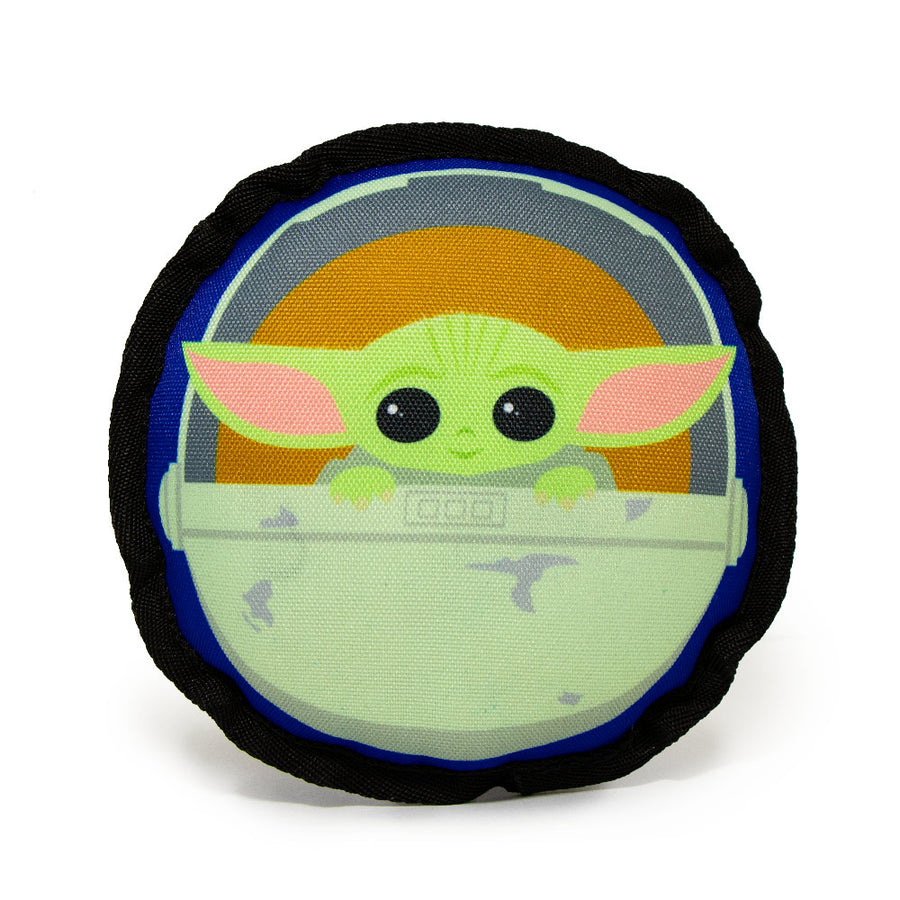 Dog Toy Ballistic Squeaker - Round Star Wars The Child Chibi Carriage Pod Pose Blue