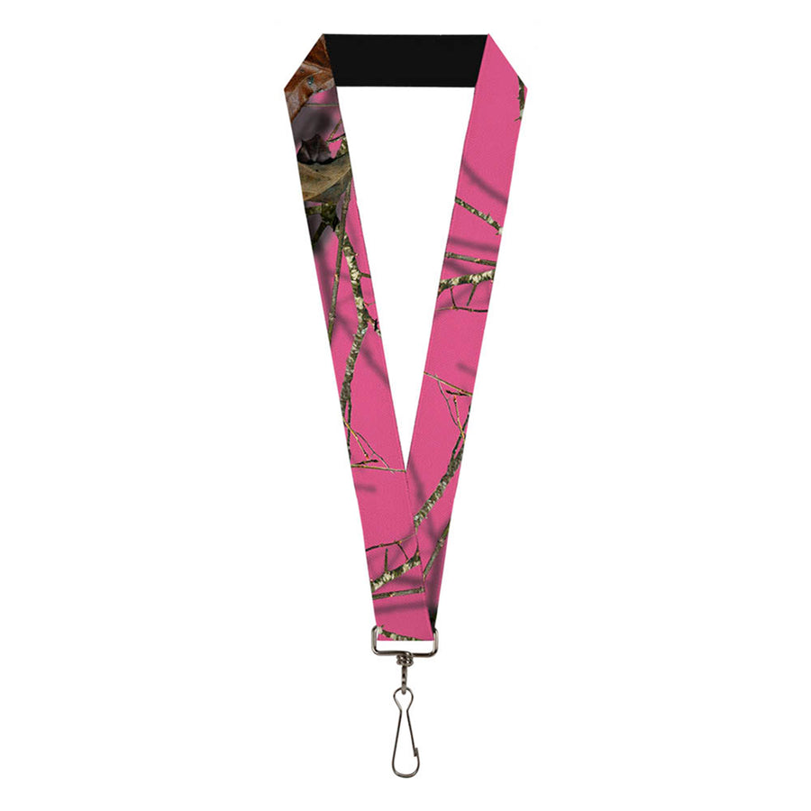 "Lanyard - 1.0"" - Mossy Oak Country Roots Camo Fuchsia"