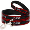 Dog Leash - 1969 Camaro Z/28 Emblem/Stripe Red/Black/Gray/Silver