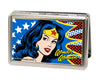 Business Card Holder - LARGE - Wonder Woman Face w Stars FCG
