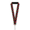 "Lanyard - 1.0"" - Mickey Mouse Costume Elements Scattered Black"