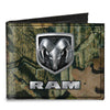 Canvas Bi-Fold Wallet - RAM Logo Mossy Oak Break-Up Infinity Silver