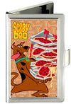 Business Card Holder - SMALL - SCOOBY DOO Pizza Stack Pose Dog Bone FCG Browns