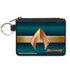 Canvas Zipper Wallet - MINI X-SMALL - AQUAMAN 2017 Icon Scales Stripe Blues Golds