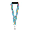"Lanyard - 1.0"" - Olaf Pose I LOVE WARM HUGS Stripe Blues"