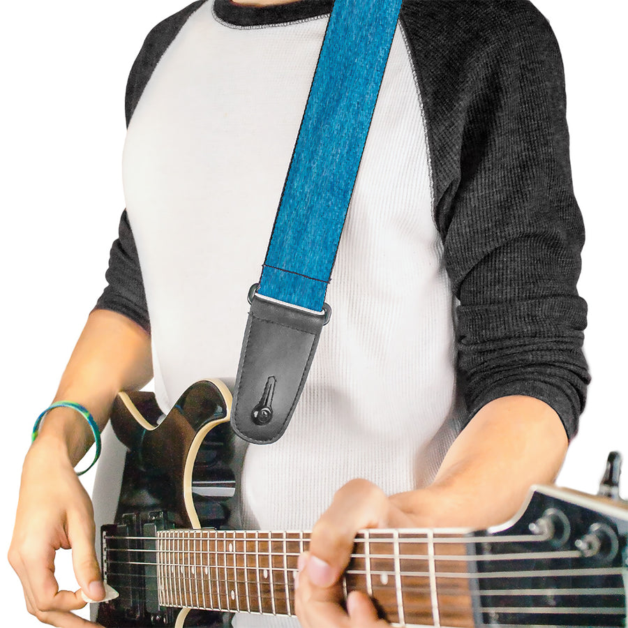 Guitar Strap - Heather Blue