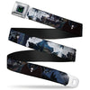 Maleficent Dragon Full Color Grays Black Seatbelt Belt - Maleficent/Maleficent Dragon/Diaval Forest Poses Webbing